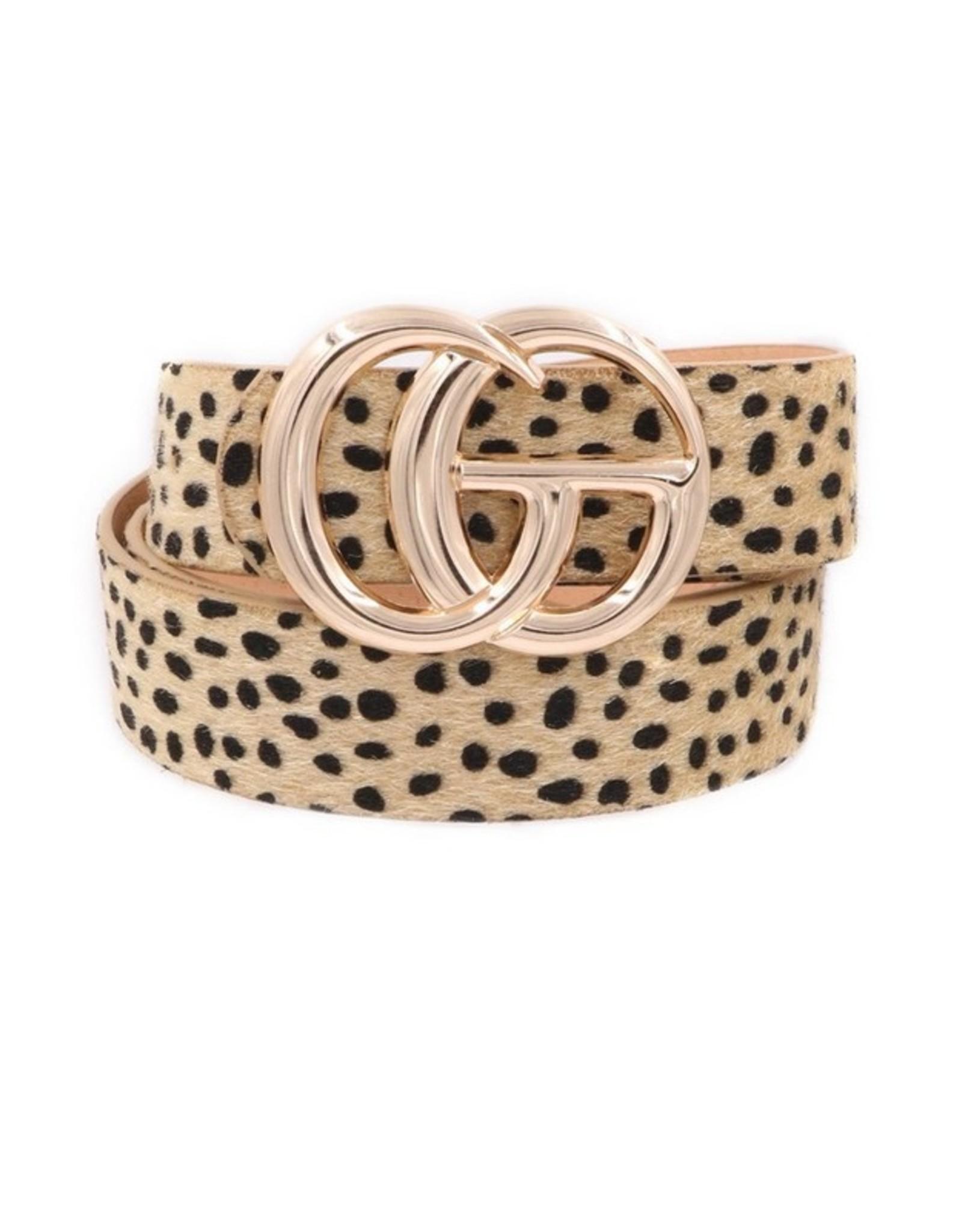 """Natural Leopard Fur 1.25"""" GO Belt"""