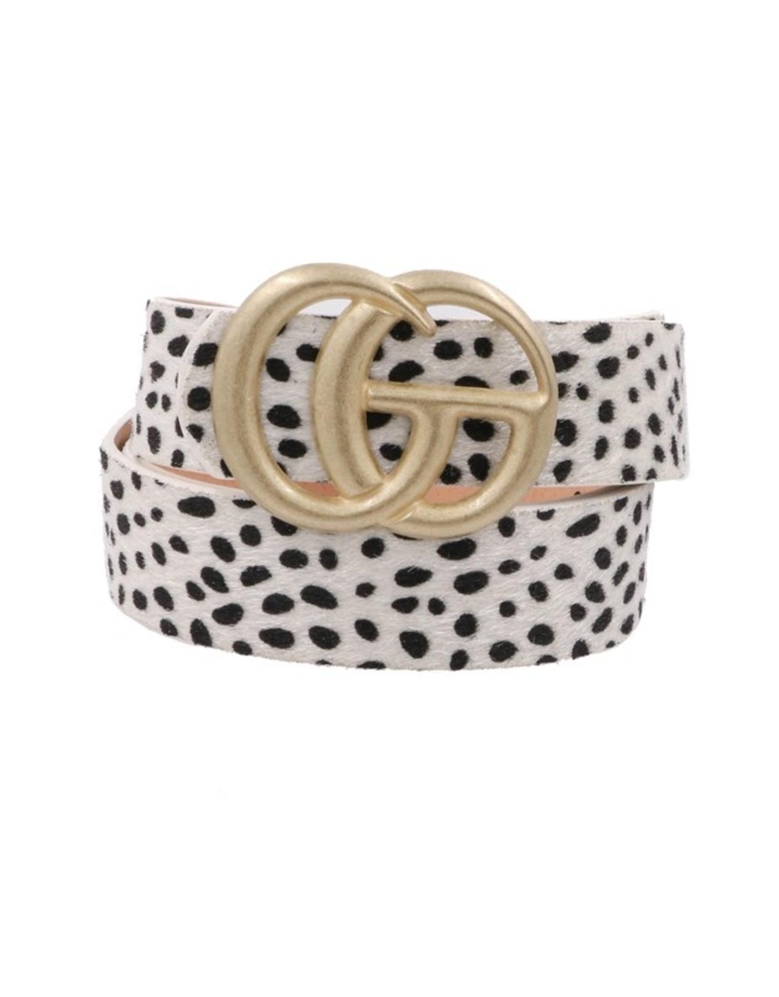 "White Leopard Fur 1.25"" GO Belt"