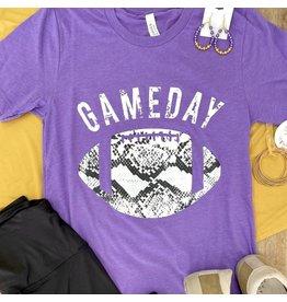 Purple Gameday Snakeskin Tee