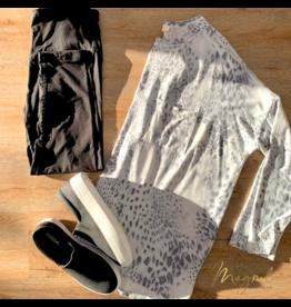 Grey Leopard Long Sleeve Top