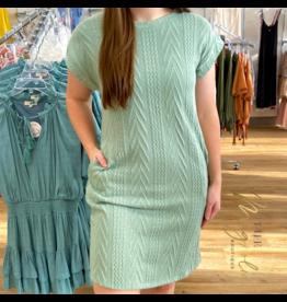 Sage Sweater Short Dress