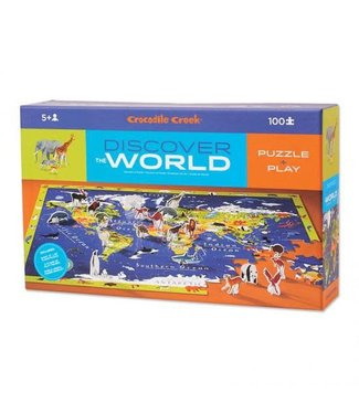 Crocodile Creek Discover The World Learn + Play Puzzle 100pc