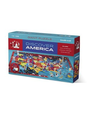Crocodile Creek Discover America Learn + Play Puzzle 100pc