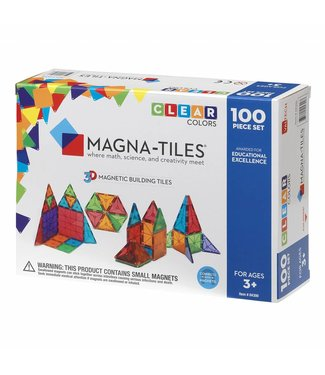 Magna-Tiles Magna-Tiles® Clear Colors 100 Piece Set