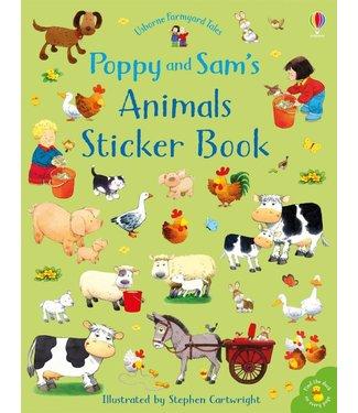 Usborne Animals Sticker Book (Poppy and Sam)