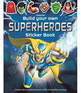 Usborne Build Your Own Superheroes Sticker Book