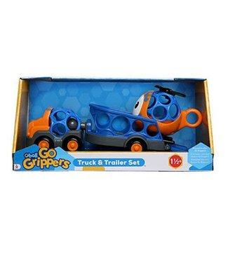 Toysmith Go Grippers Truck & Trailer Set