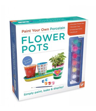 Mindware Paint Your Own - Porcelain Flower Pots