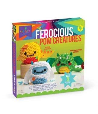 Craft-tastic Ferocious Pom Creatures