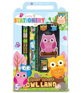 The Piggy Story Owl Stationary Set