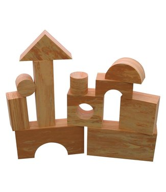 Edushape Wood-Like Soft Blocks - 30 Pieces
