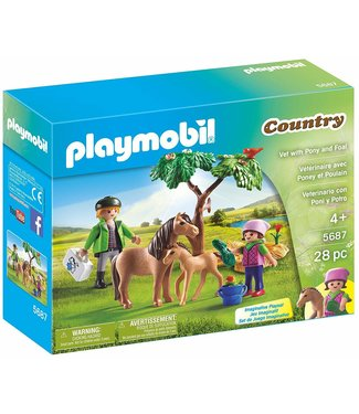 Playmobil Vet with Pony and Foal 5687