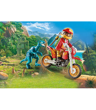 Playmobil Motocross with Raptopr 9431