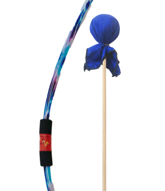 Two Bros Bows Blue Tie-dye bow with colbalt arrow