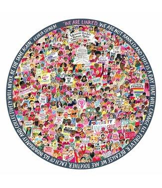 eeBoo Women March! Round Puzzle