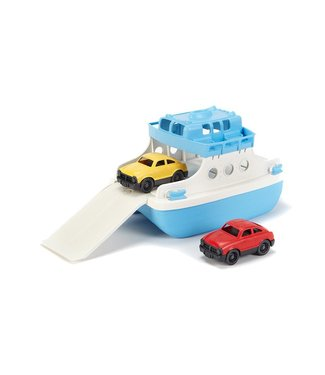 Green Toys Ferry Boat with Mini Cars Green/White