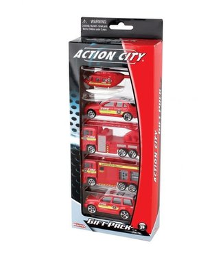 Daron 5 piece fire department vehicle  pack