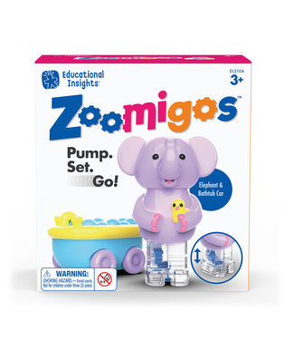 Educational Insights Elephant with Bath Tub Zoomigos