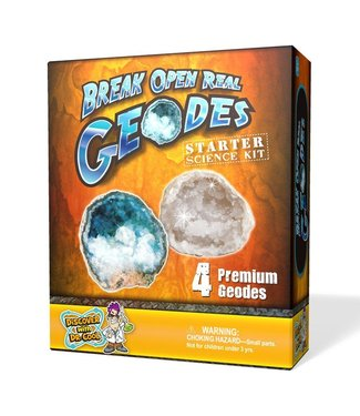 Discover with Dr. Cool Dr. Cool Crack Open 4 Real Geodes Starter Kit