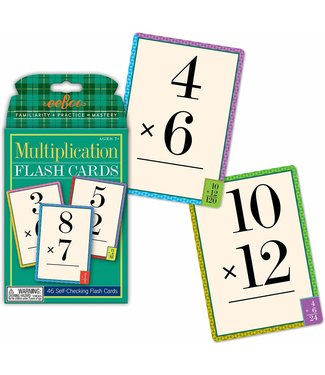 eeBoo Flash Cards Multiplication