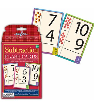eeBoo Flash Cards Subtraction