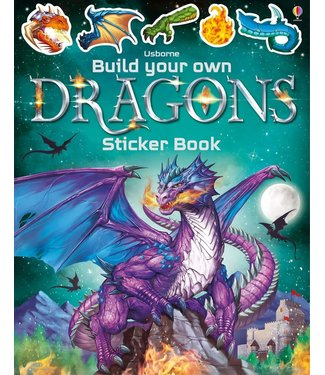 Usborne Build Your Own Sticker Books: Dragons