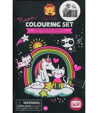 Schylling Unicorn Neon Coloring Set