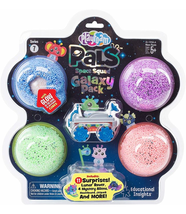 Educational Insights Playfoam Pals - Space Squad Galaxy Pack with Blue Rover