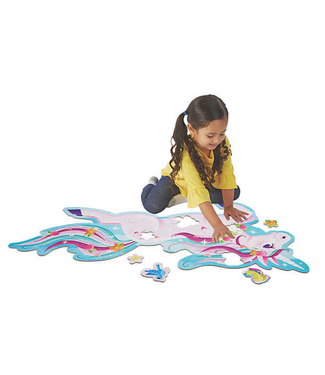 Peaceable Kingdom Shimmery Unicorn floor puzzle