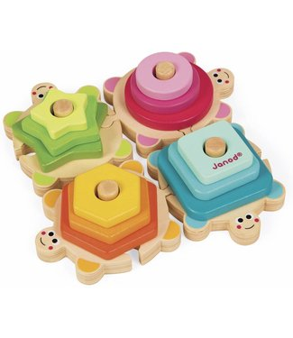 Janod Wood Stackable Turtles