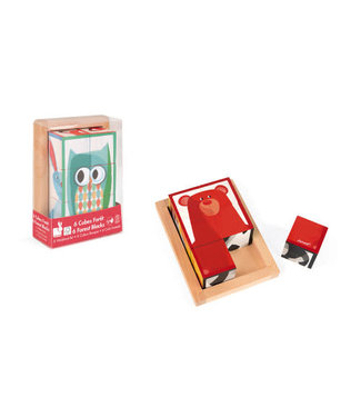 Janod 6 Forest Blocks in Wooden Box