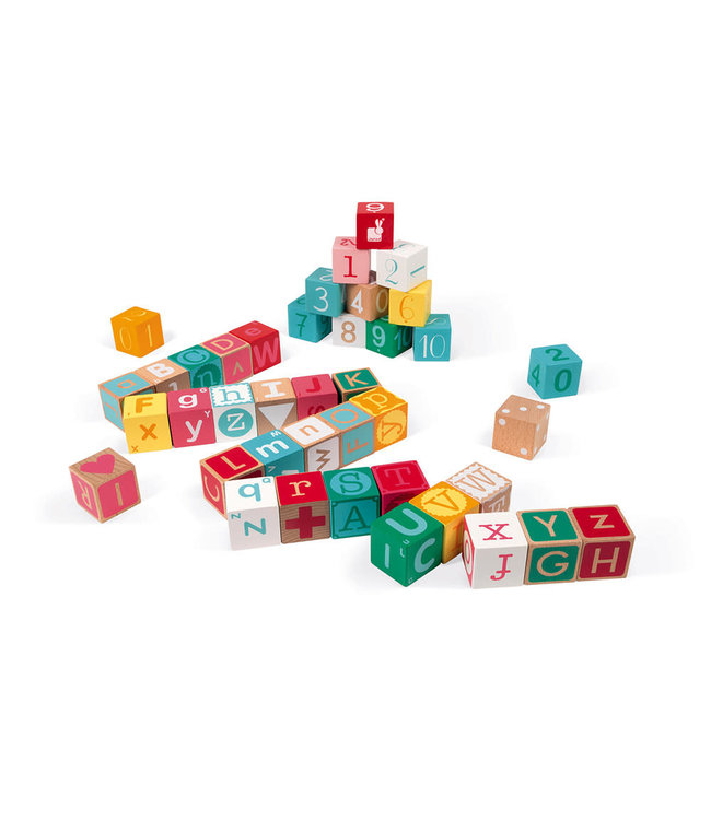 Janod Kubix 40 Letter & Number Blocks