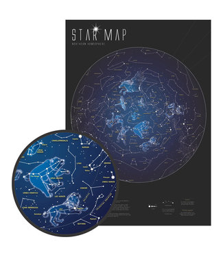 Waypoint Geographics Glow In The Dark Star Map