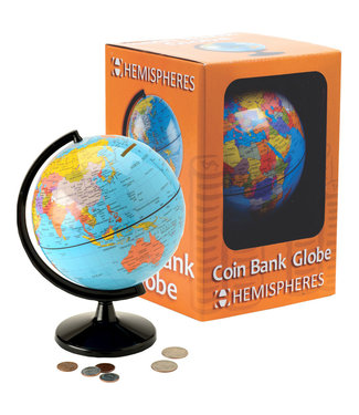 "Waypoint Geographics Coin Bank 5.6"" Acrylic Globe"