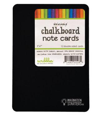 Imagination Starters Chalkboard Note Cards Set (12 pcs)