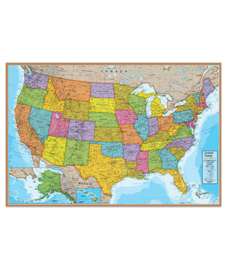 Waypoint Geographics Blue Ocean Series United States Wall Map