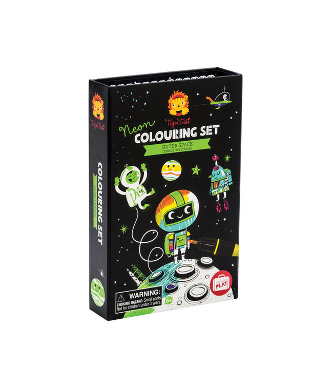 Schylling Neon Coloring Set - Outer Space