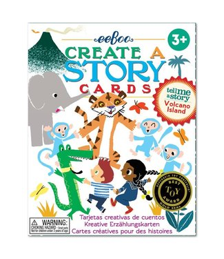 eeBoo Create a story cards: volcano island