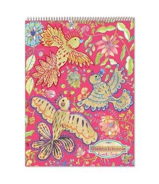 eeBoo Gold Birds Metallic Sketchbook