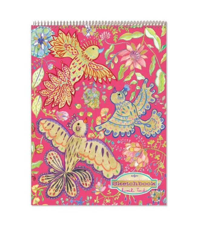 eeBoo Gold Birds Metallic Sketchbook