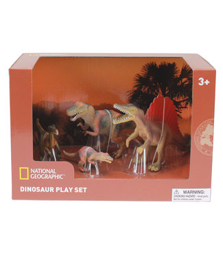 National Geographic Carnivore Dinosaur Figurines, 4 pc