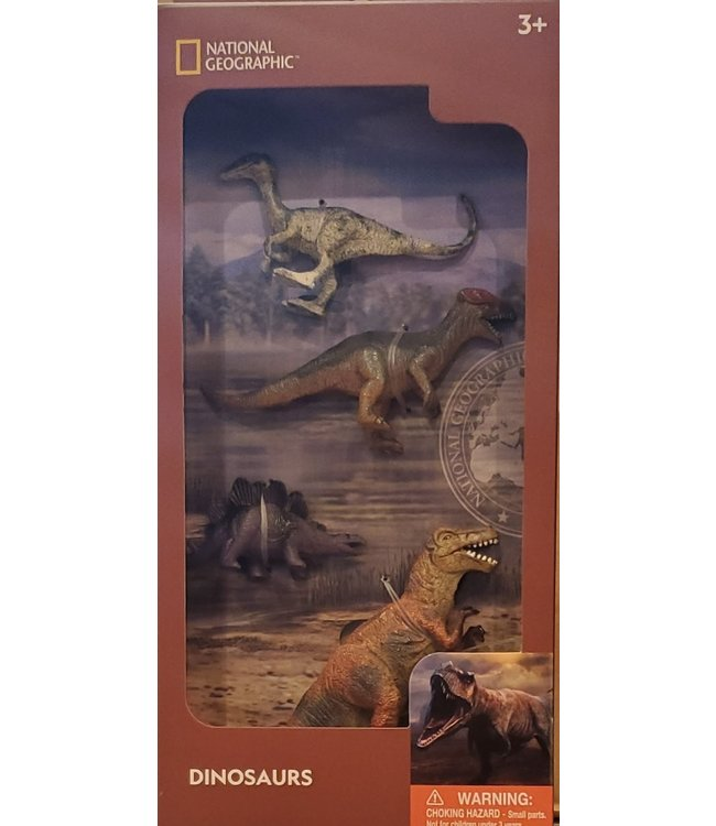 National Geographic 4pcs Dinosaurs