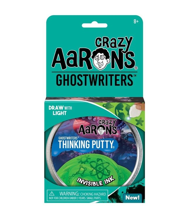 "Crazy Aaron Thinking Putty - 4"" Invisible Ink"