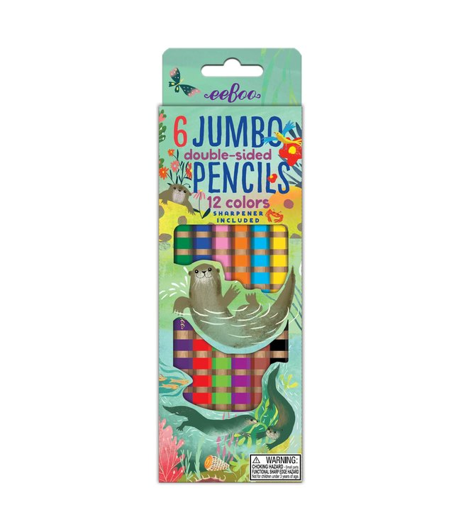 eeBoo Jumbo Double Sided Otter Pencils