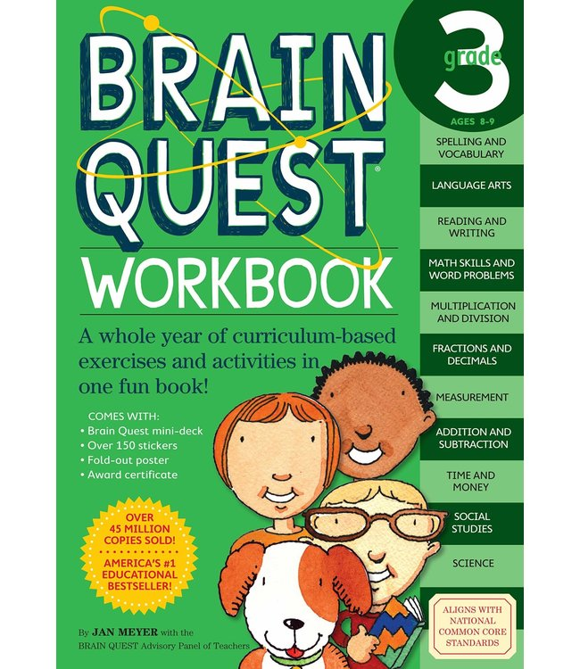Workman Publishing Brain Quest Workbook: Grade 3