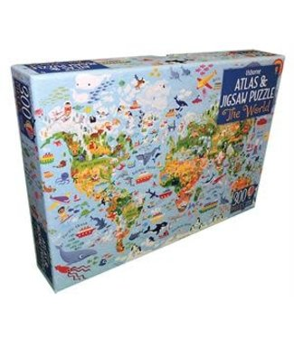 Usborne The World - Atlas and Jigsaw Puzzle