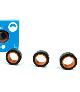 Blue Orange Fingears - Lg Black & Orange