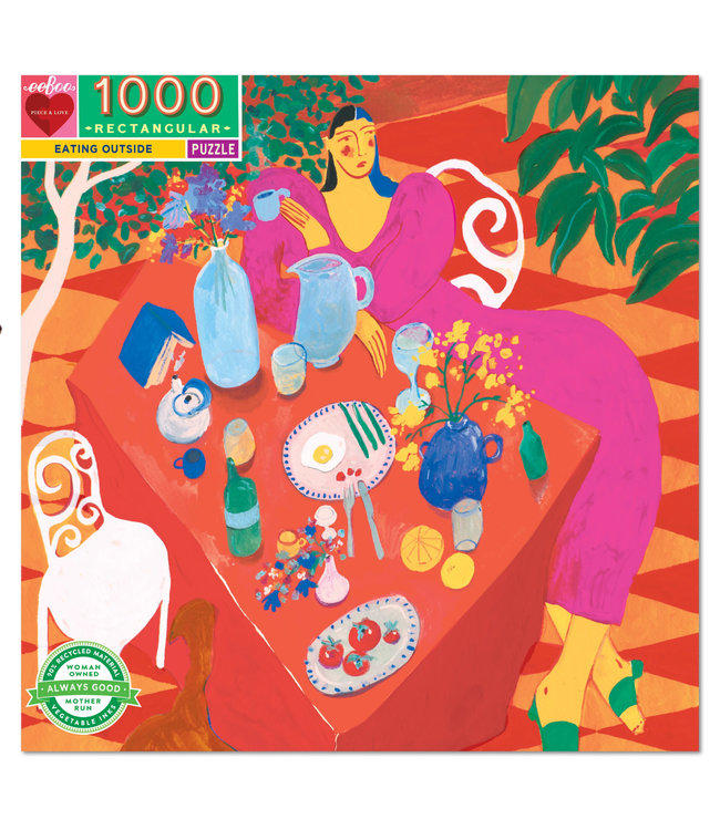 eeBoo Eating Outside - 1000 Piece Puzzle