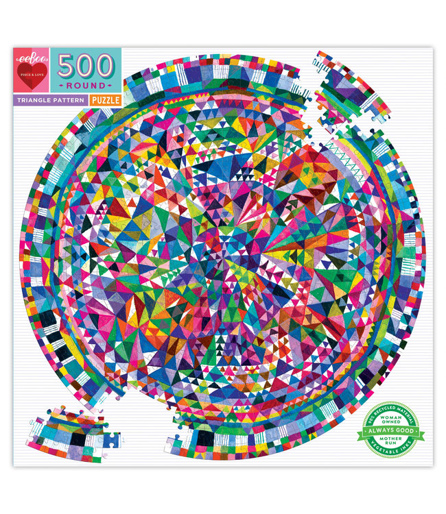 eeBoo Triangle Pattern -  500 Piece Puzzle