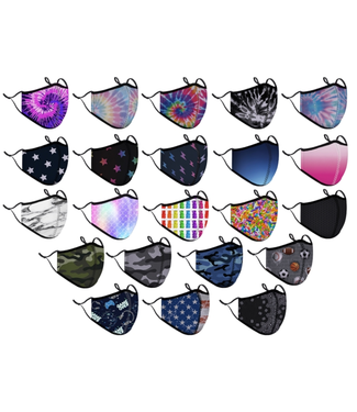 Top trenz Variety Pack - One Size Fits Most Fashion Mask - 8+
